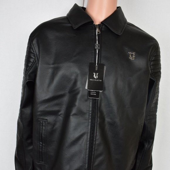 cd380a1d2c42 VG World Collection Men s Faux Leather XXL Jacket